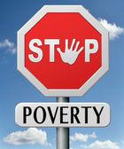 Stop poverty — Stock Photo