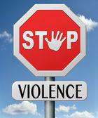 Stop violence — Stock Photo