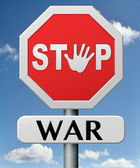 Stop war — Stock Photo