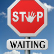 Stock Photo: Stop waiting