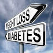 Weight loss or diabetes — Stock Photo #19154153