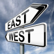 East or west — Stock Photo