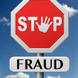 Stock Photo: Stop fraud