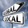 Stock Photo: Global or local