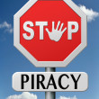 Stop piracy — Stock Photo