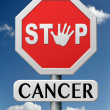 Stop cancer — Stock Photo