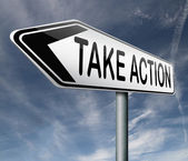 Take action — Stock Photo