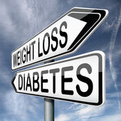 Weight loss or diabetes — Stock Photo