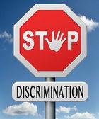 Stop discrimination — Stock Photo