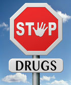 Stop drugs — Stock Photo