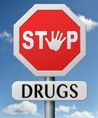 停止药物 — 图库照片