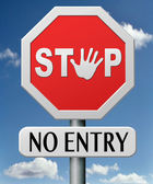 No entry — Stock Photo