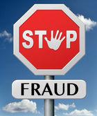 Stop fraud — Stock Photo