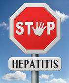 Stop hepatitis — Stock Photo