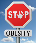 Stop obesity — Stock Photo