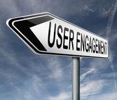 Envolvimento do usuário — Foto Stock