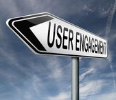 Zaangażowanie użytkowników — Zdjęcie stockowe
