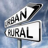 Urban or rural — Stock Photo