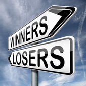 Winners or losers — Stock Photo