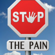 Stop the pain — Stock Photo