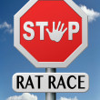 Stock Photo: Rat race