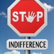 Stock Photo: Stop indifference