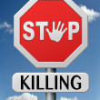 Stock Photo: Stop killing