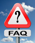 Frequently asked question — Stok fotoğraf