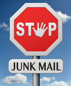 Stop junk mail — Stock Photo