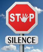 Stop silence — Stock Photo