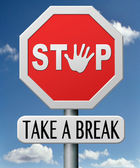 Take a break — Foto de Stock