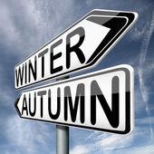 Winter autumn — Stock Photo