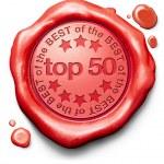 Top 50 charts — Stock Photo