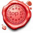 Top 5 charts - Stock Photo