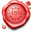 15 percentages off sales — Stock Photo