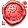 75 percentages off sales — Stock Photo