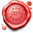20 percentages off sales — Stock Photo