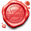 Visa denied — Stock Photo