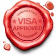Visa approved — Stock Photo