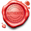 Stock Photo: Stamp guaranteed authentic