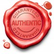 Stamp guaranteed authentic — Stock Photo