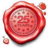 Twenty five years experience — Stock Photo