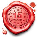 Fifteen years experience — Stock Photo