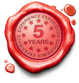 Five years experience — Stock Photo