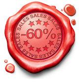 60 Prozent vom Umsatz — Stockfoto