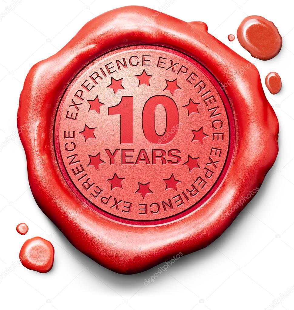 10 years experience  u2014 stock photo  u00a9 kikkerdirk  25895771