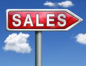 Sales road sign arrow — Stock Photo