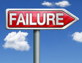 Failure road sign arrow — Stock Photo