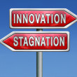 Innovation or stagnation — Stock Photo
