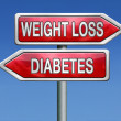 Weight loss or diabetes — Stock Photo #28856787